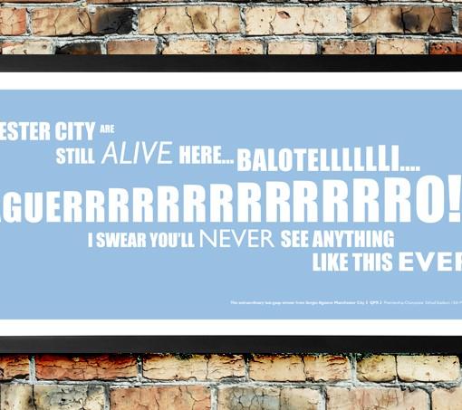 Aguerrrrrrro's dramatic title winner for Manchester City against QPR!
