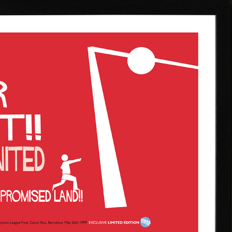 We based the illustration style of Solskjaer's goal on the legendary designer Saul Bass