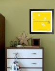 In the lounge, hall, bedroom or little boys room. This stunning piece of art will look great anywhere.