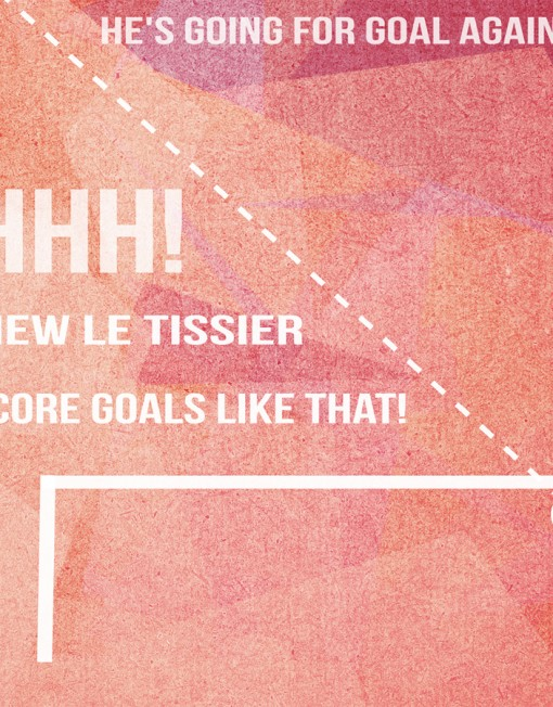 Close-up detail of the monstrous goal from 'Le Tiss'.