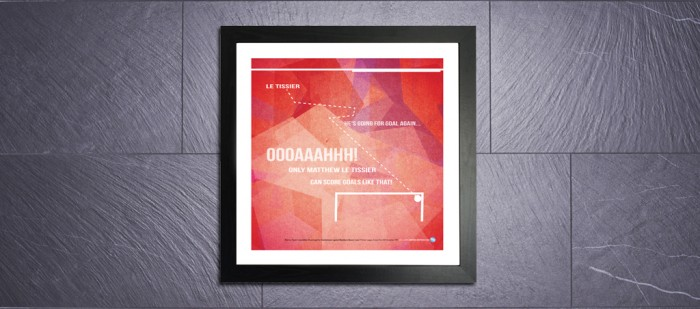 Only 50 Limited Edition prints produced of this classic Le Tissier goal.