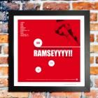 Aaron Ramsey Arsenal football print