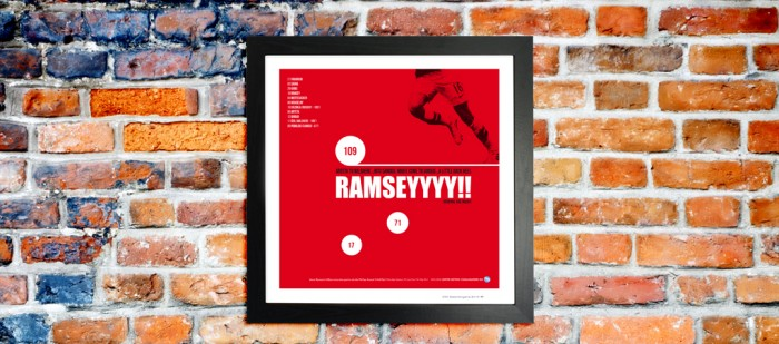 Aaron Ramsey Arsenal football print