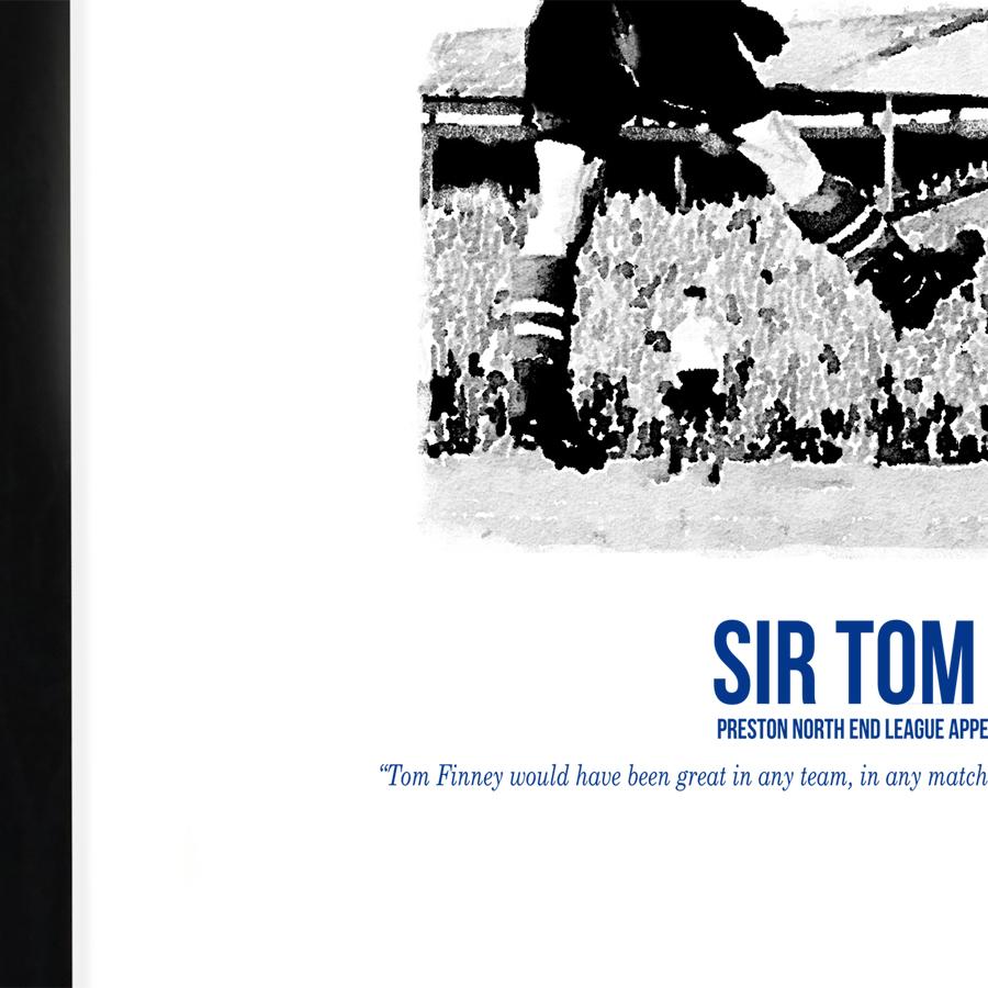 tom finney preston north end goalhangers football print