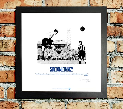 Tom Finney. A one of a kind legend. Captured in a limited edition framed print.