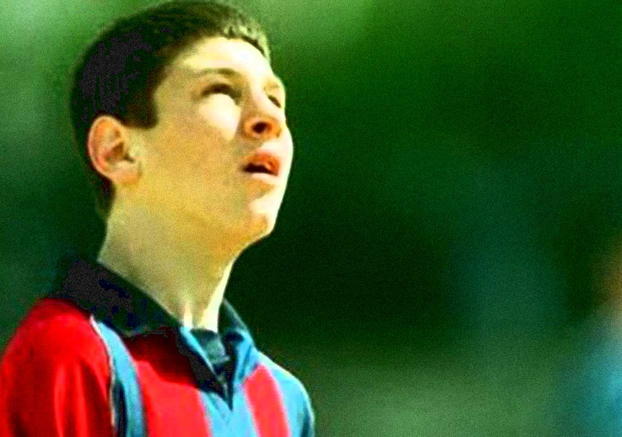 Messi image as young boy