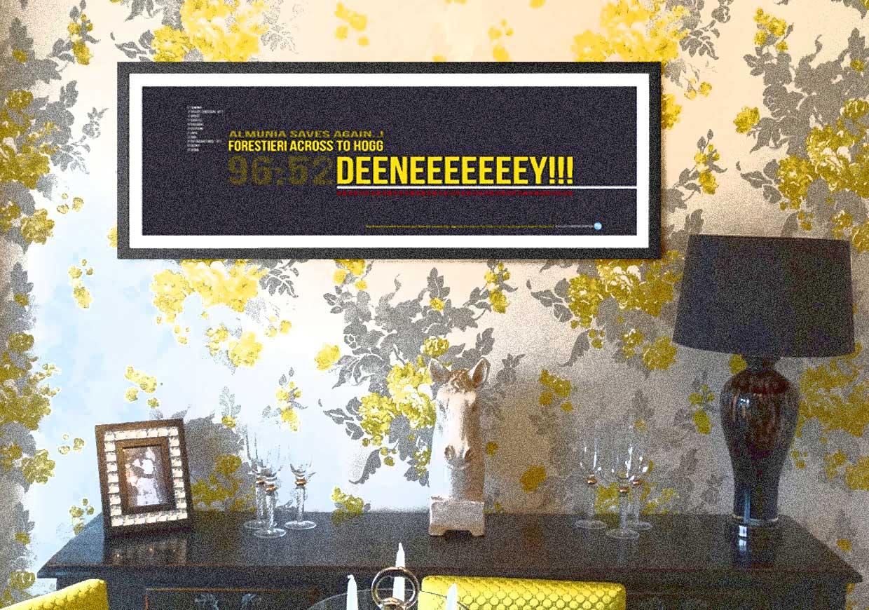 Troy Deeney Watford Football print frame on wall