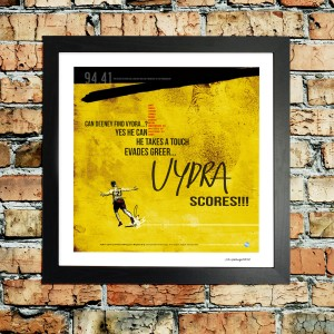 Vydra limited edition print of goal for watford v Brighton