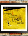 Vydra goal v Brighton football print on wall