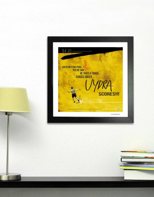 Vydra goal V Brighton football print - Goalhangers.co.uk